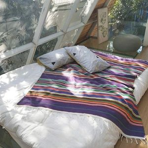 Mexican Inspired Serape Artisan Throw Blanket